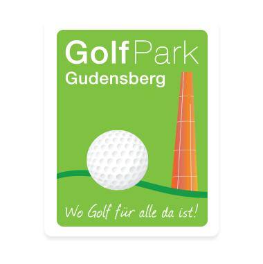 Logo of golf course named Golfparkgudensberg