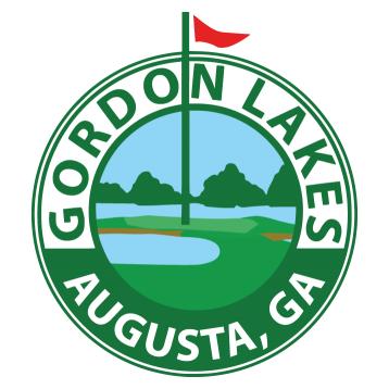 Logo of golf course named Gordon Lakes Golf Course