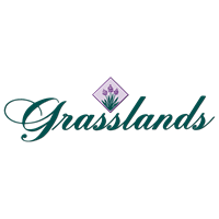 Logo of golf course named Grasslands Golf and Country Club