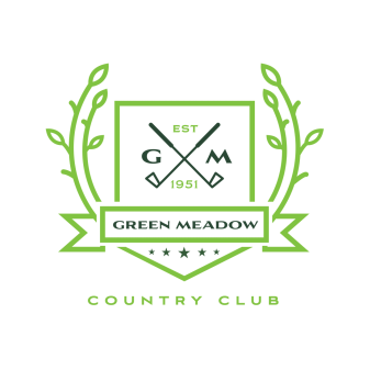 Logo of golf course named Green Meadow Country Club