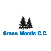Logo of golf course named Green Woods Country Club
