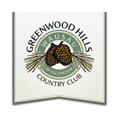 Logo of golf course named Greenwood Hills Country Club