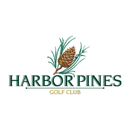 Logo of golf course named Harbor Pines Golf Club