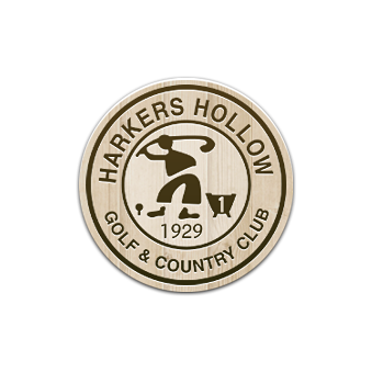 Logo of golf course named Harkers Hollow Golf Club