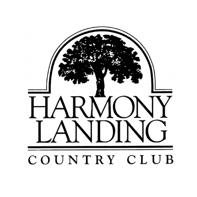 Logo of golf course named Harmony Landing Country Club