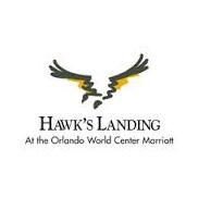 Logo of golf course named Hawk's Landing Golf Club
