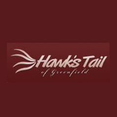 Logo of golf course named Hawk's Tail of Greenfield