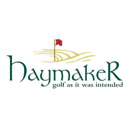 Logo of golf course named Haymaker
