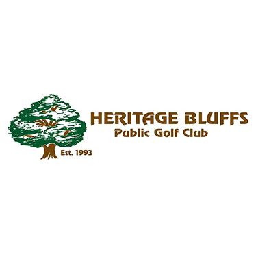Logo of golf course named Heritage Bluffs Public Golf Club