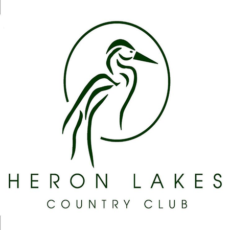 Logo of golf course named Heron Lakes Country Club