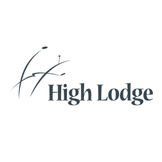 Logo of golf course named High Lodge