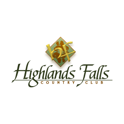 Logo of golf course named Highlands Falls Country Club