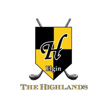 Logo of golf course named Highlands of Elgin