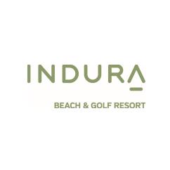 Logo of golf course named Indura Golf & Beach Resort