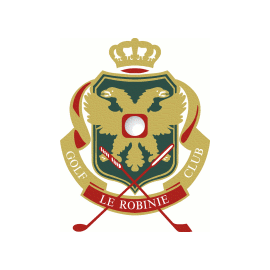 Logo of golf course named Le Robinie Golf Club and Resort