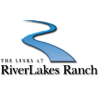 Logo of golf course named Links at River Lakes Ranch, The