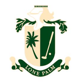 Logo of golf course named Lone Palm Golf Club
