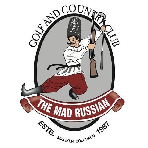 Logo of golf course named Mad Russian Golf and Country Club, The