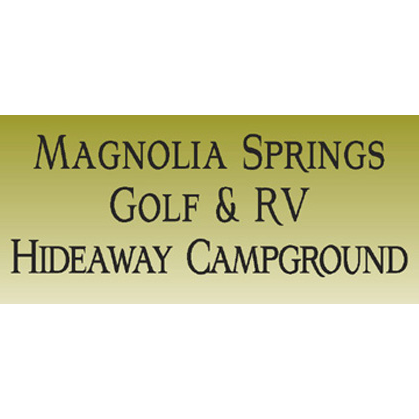 Logo of golf course named Magnolia Springs Golf