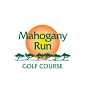 Logo of golf course named Mahogany Run