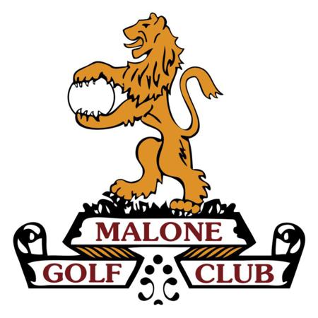 Logo of golf course named Malone Golf Club