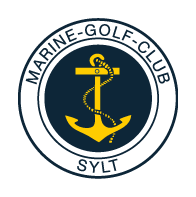 Logo of golf course named Marine-Golf-Club Sylt E.g.