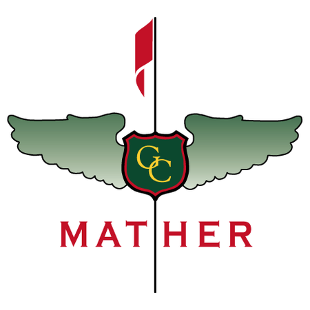 Logo of golf course named Mather Golf Course
