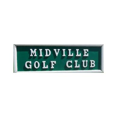 Logo of golf course named Midville Golf Club