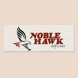 Logo of golf course named Noble Hawk Golf Links