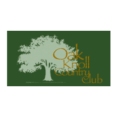 Logo of golf course named Oak Knoll Country Club