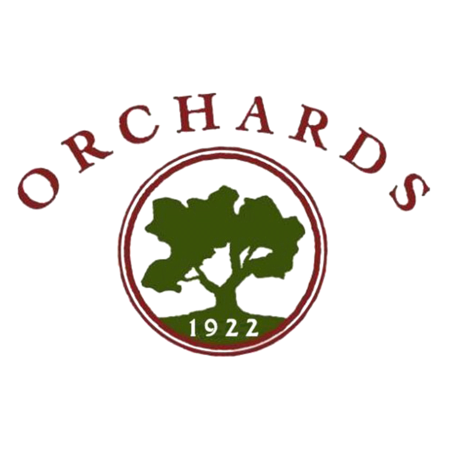 Logo of golf course named Orchards, The