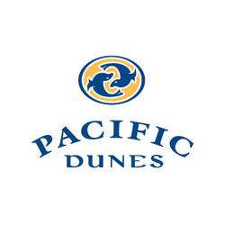 Logo of golf course named Pacific Dunes at Bandon Dunes Resort
