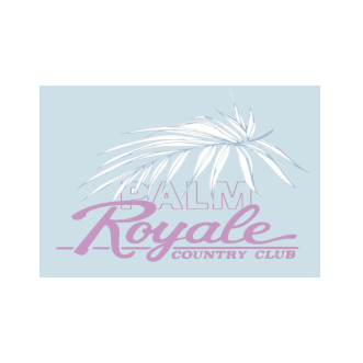 Logo of golf course named Palm Royale Country Club