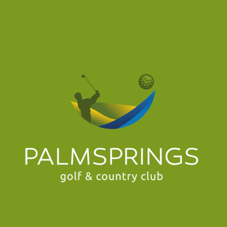 Logo of golf course named Palm Springs Golf and Country Club