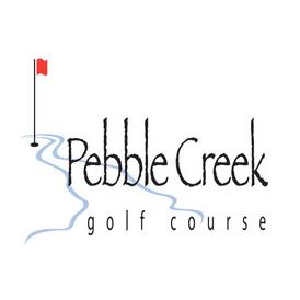 Logo of golf course named Pebble Creek Golf Course