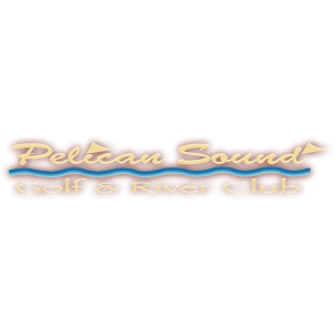 Logo of golf course named Pelican Sound Golf and River Club