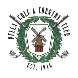 Logo of golf course named Pella Golf and Country Club
