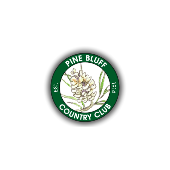 Logo of golf course named Pine Bluff Country Club