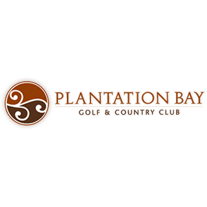 Logo of golf course named Plantation Bay Golf and Country Club
