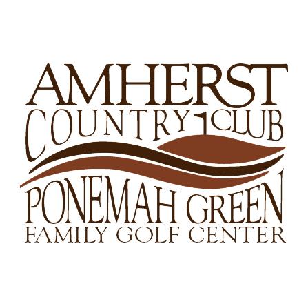 Logo of golf course named Ponemah Green Family Golf Center