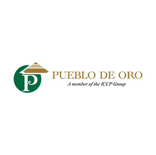 Logo of golf course named Pueblo de Oro Golf and Country Club