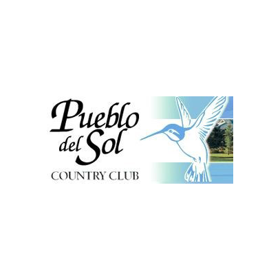 Logo of golf course named Pueblo Del Sol Golf and Country Club