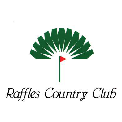 Logo of golf course named Raffles Country Club