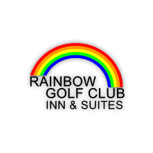 Logo of golf course named Rainbow Country Club