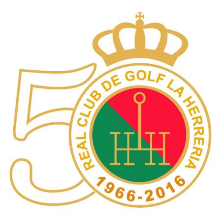 Logo of golf course named Real Club de Golf La Herreria