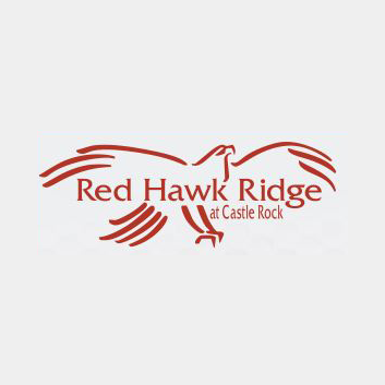 Logo of golf course named Red Hawk Ridge