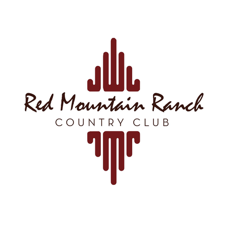 Logo of golf course named Red Mountain Ranch Country Club