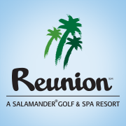 Logo of golf course named Reunion Resort