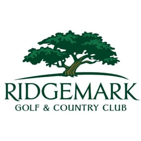 Logo of golf course named Ridgemark Golf and Country Club