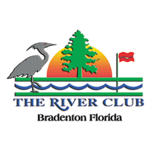 Logo of golf course named River Club, The